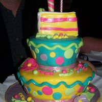 Just Plain Old Fun  i need a bday cake for a friends bday so i just had fun!!!!! and did anything and everything i wanted it was so much fun!!!!! it was lemon...