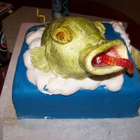Fish Cake   my boyfriend loves fishing so i surprised him with this though i were not sure what kinda fish it turned out to be he loved it