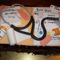 Nurses Cake   this was a birthday cake for someone going through nurseing school its all fondant