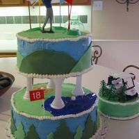 Golf Themed Birthday Cake Golf Cake I made for my Grandpa's 70th Birthday!