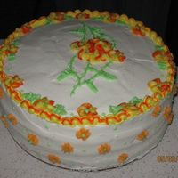 Bridal Shower I made this cake for a lady at my church who was renewing her wedding vows on Memorial Weekend of 2008.