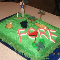 A Fareway To Celebrate Golf Course Cake