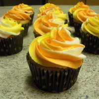 Candy Corn Cupcakes I saw this idea in a magazine and my co-workers LOVED them!