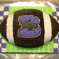 Boerne Greyhounds I made this cake with my friend Tina for a Coaches party & my cousins birthday.I used the Wilton 3D football pan and a 9x13 pan...it...
