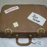 Going Away Suitcase Made this one with a friend...it was our very first Fondant cake.