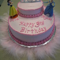 Disney Princess Made this for a friend...one of the girls loved Snow White and the other loved Cinderella...it was a pretty easy cake to make