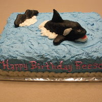 Whale Of A Time I made this cake for a friends daughters birthday.The killer whale was a little difficult, because I couldn't get him smooth...it was...