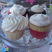 Farmers Market Cupcakes Snickerdoodle, pb cup, red velvet and lemon.