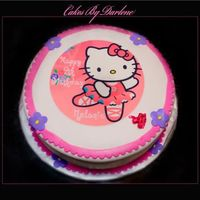 Hello Kitty Ballerina Cake I made for a friends niece. She was so happy when she saw this cake.