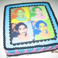 Retro Birthday Cake photo image for my baby sis' 10th birthday! TFL!