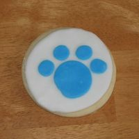 Blues Clues Paw Print Cookie   NFSC with rolled buttercream decorations. made to go along with blues clues cake.