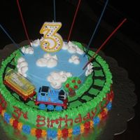 Thomas The Tank Engine Chris's 3Rd Bday I got this idea from kchart- THANKS! I had a major cake disaster the day before my son's birthday and I went on to cake central to...