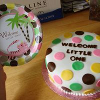 Polka Dot Jungle Theme  I was given the plate and asked to do my best, I think its a bit plain and maybe should have tried to make the cat and palm trees as well,...