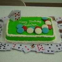 Poker Cake   Poker chips are cookies dipped in colored candy melts.