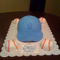 Baseball Cap And Mini Baseballs Made for my nephew. Special thanks to Renne2007 and Cakesmade4u who answered my questions as to how to make the cake, both theirs are...