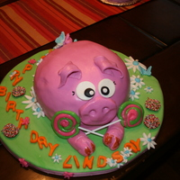 Happy Birthday Piggy This cake was made for a girl's birthday that love the pigs. So I wanted to make it girly and fun and colorful and delicious.It is the...