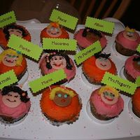 Macarena's 5Th Birthday,classmates Cupcakes