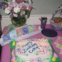 "Easter/birthday Cake  My sister's birthday fell on Easter this year. So I decided to make it very springy, and incorporate some ""commercial""..."