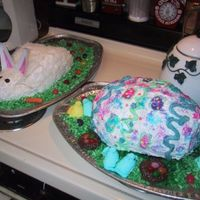 Bunny & Egg Cakes! I made these about 8 years ago for my sister, for her birthday. Her birthday always falls around Easter. The bunny cake is actually a...