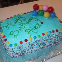 Colorful Birthday Cake! I made this about 5 years ago for my friend (who now happens to be my husband) for his birthday. I wanted to keep it fun and colorful! I...