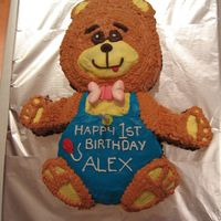 Boys Teddy Bear Buttercream icing