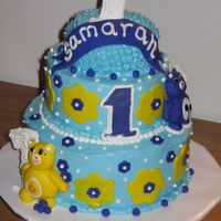 Care Bear Cake This cake is marble, with a chocolate cream cheese filling and all cream cheese frosting. The mother wanted no pink on the cake so I went...