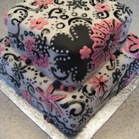 Funky Pink And Black Birthday Cake