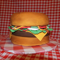 Huge Burger This is a 12 inch round Hamburger cake