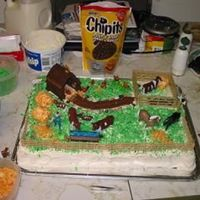 On The Farm I made this cake for Father's Day for my Grandpa. The cake is chocolate with Cool Whip icing. I used colored coconut for the grass,...