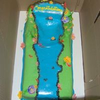 Big Luau Waterfall Cake This was a pretty large waterfall cake for a graduation party - I have always wanted to try one so I got my chance! BC and MMF - there were...