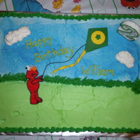 Let's Go Fly A Kite With Elmo Cake for my son's 2nd birthday