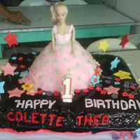 Doll Cake DOLL CAKE IN CHOCOLATE CAKE WITH CHOCOLATE GANACHE