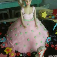 Doll Cake bIRTHDAY SOLL CAKE IN CHOCOLATE CAKE