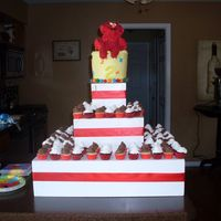 Elmo Cake/cupcake Tower I made this for my friends son. It was my first time with RKT and I loved it. Top smash cake was WASC with strawberry and banana. WASC and...