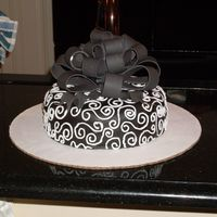 "Black And White Birthday Cake Chocolate fudge cake with MacsMom Mascarpone Filling (very delicious, thanks MacsMom). This cake consisted of a lot of ""firsts""..."