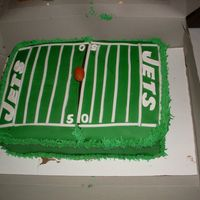 Jets Football Field Chocolate WASC modified. This cake was a bit tricky. My first time covering a rectangle with fondant and I could use more practice. I made...