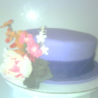 Hat Cake Hat cake, made from 8inch cake, flowers are fake, cake covered with fondant