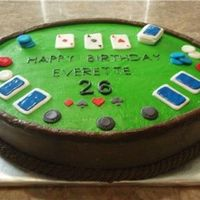 Poker Cake Made this for a friend. Her husband loves Texas Hold'em. BC with fondant cards and poker chips.