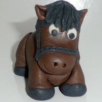 Pony Or Horse Made out of fondant.