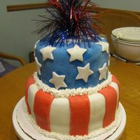 4Th Of July Mmm My 3rd fondant cake woohoo!!!!