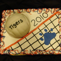 Volleyball This cake was done for our local high school volleyball team, to help celebrate parents night. A big thank you to all fellow CC'rs,...