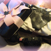 Lingeria Shower Bra & box are cake, lid is styrofoam covered in fondant. TFL