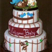 Welcome Baby Was done to match nursery decor.