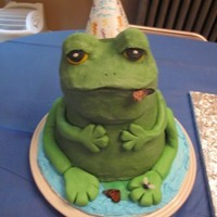 Frog Cake  Made this for my mom's 50th birthday. She likes frogs and loved this cake. She loved it even more because it was gluten free and had...