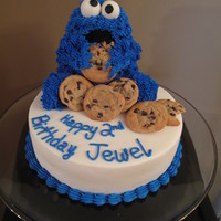 Cookie Monster Cake  This cake was for my niece's 2nd birthday. She loves cookie Monster! This idea came from the many cookie monster cakes here on CC. I...