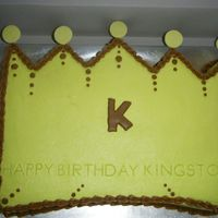 Prince Crown cut out of 11 x 15 sheet cake