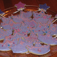 Pink And Purple Tiaras & Wands Made these for a 3 year old's birthday. I used the bat cookie cutter from Wilton, and creatively trimmed the head off with a bent...