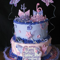 Fancy Nancy For Sisters Made this cake for my kids' friends' birthday. They wanted Fancy Nancy!! Sunglasses, shoe, wand, numbers, feathers, butterflies &...