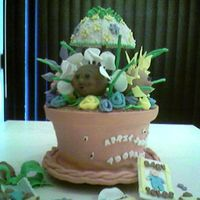 April Showers Bring Adorable Flowers based on the flower pot shower cake on this site