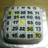 80Th Birthday !! I MADE THIS CAKE FOR MY GRANDMOTHER. SHE LOVES BINGO !!!